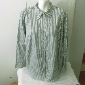 Lauren Ralph Lauren Striped Shirt 3X Woman's